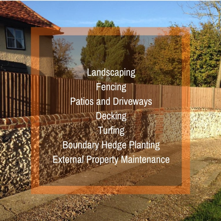FencingBoundary Hedge PlantingExternal Property MaintenanceGutteringLandscapingPatios and DrivewaysGarden ClearanceFlint Walling